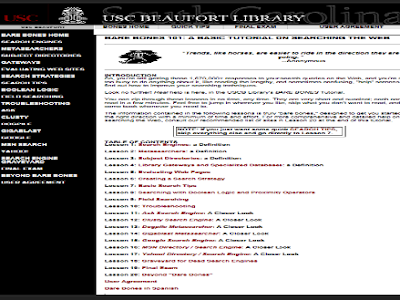Online Search Literacy- Some Helpful Resources for Teachers and Students