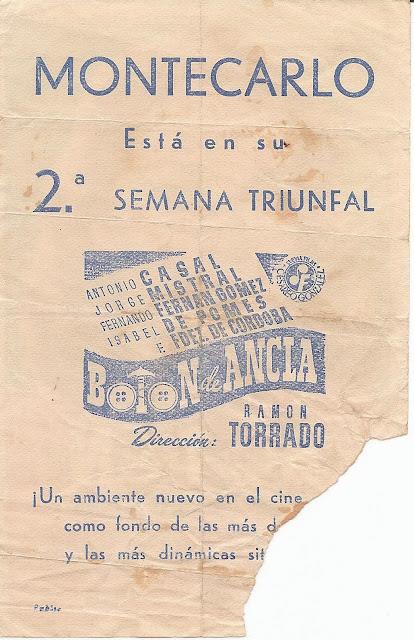 Botón de Ancla - Folleto de Mano - Antonio Casal - Jorge Mistral - Fernando Fernán Gómez