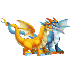 Appearance of Twin Dragon when adult