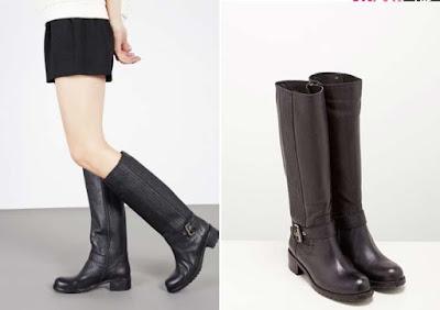 Botas de piel negras de la marca Cosmoparis en oferta