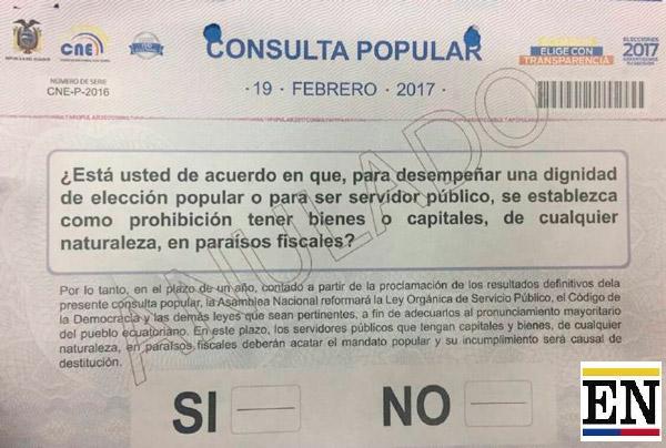 encuesta consulta popular ecuador
