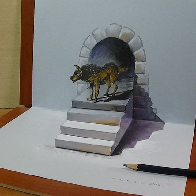 10-Wolf-Vámos-Sándor-3D-Art-and-Optical-Illusions-Drawings-and-Videos-www-designstack-co