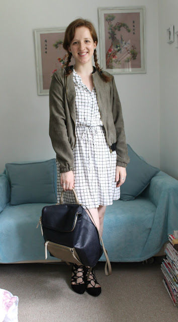 OOTD: School Girl Dress and Bomber Jacket, Outfit, Primark, Bomber Jacket, New Look, Jewellery, Watch, Olivia Burton, Summer