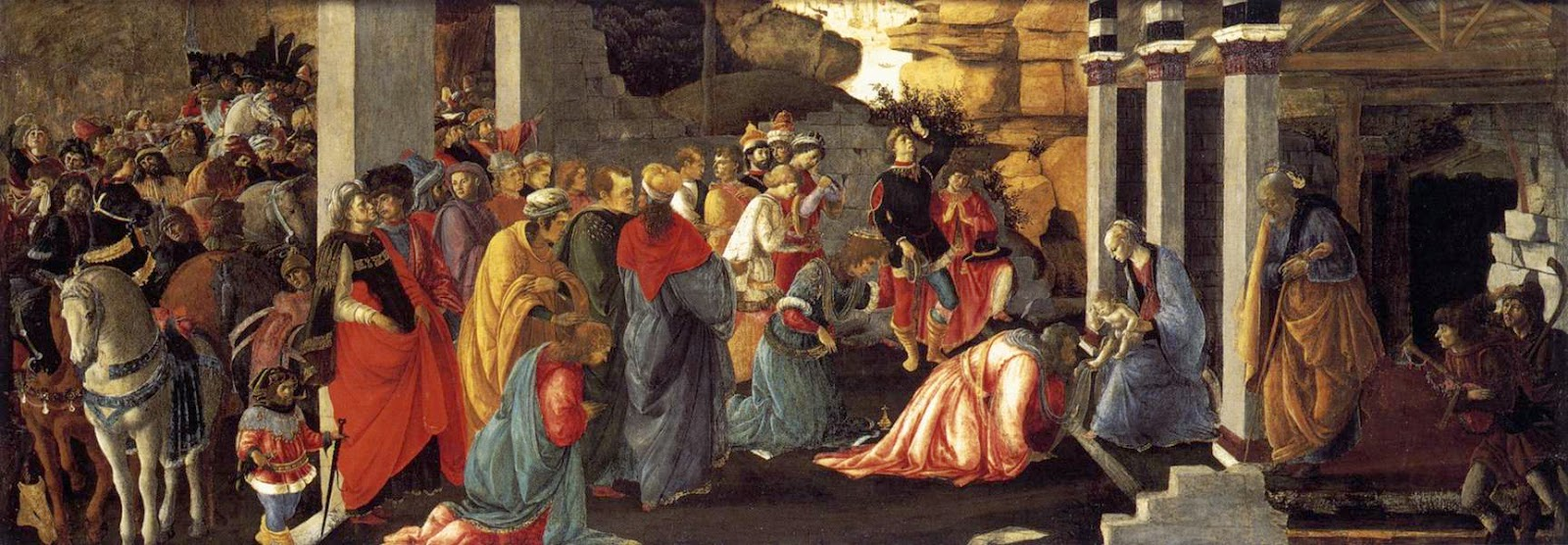 Resultado de imagen de Cuadros Antiguos sobre la adoración de los Reyes Magos