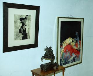 Dom aukcyjny Okna Sztuki dwa obrazy i rzeźba