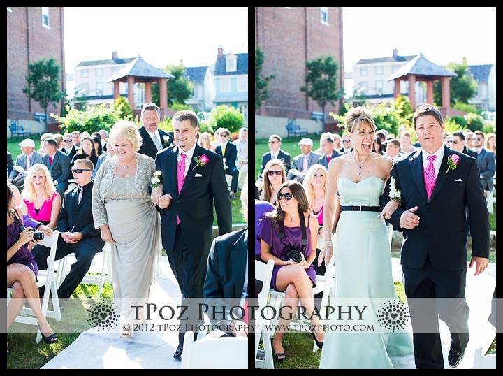 wedding ceremony in Pell Gardens at Chesapeake Inn