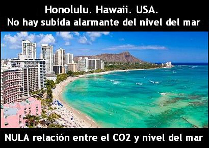 Honolulu, Hawaii, USA, aumento, nivel del mar, sea level, CO2, alarmismo, fraude, cambio, climático, climate, change, calentamiento, global, warming