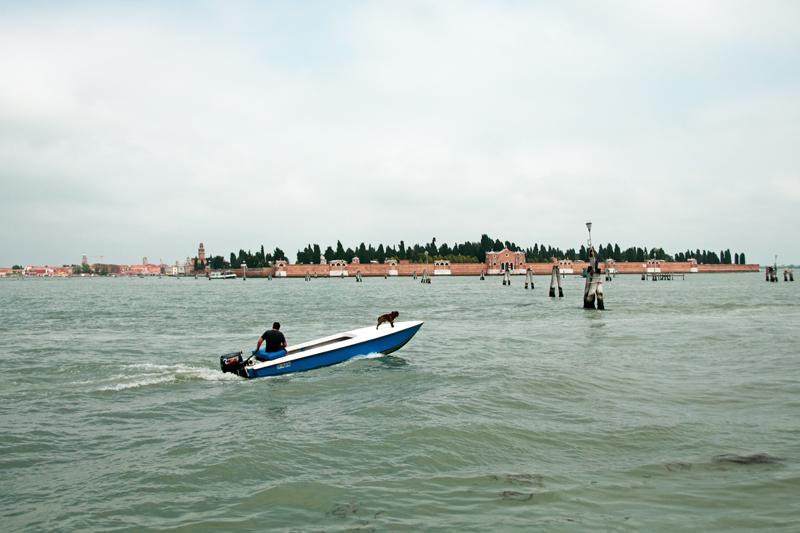 Vue d'une des îles de la lagune de Venise
