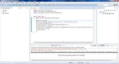 meta description of site in webdriver