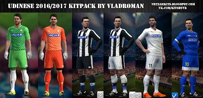 PES 2013 Udinese 2016/2017 kits by vladroman