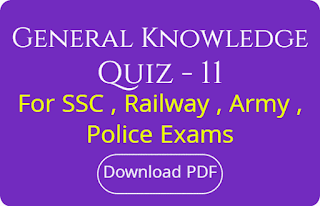 General Knowledge Quiz - 11