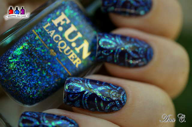 Fun Lacquer, Exquisite, Flocado, Glitter, 2nd Anniversary Collection. moyou london, kaleidoscope 04, moyra purple
