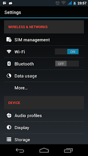 Screenshot hasil head menu - catatandroid