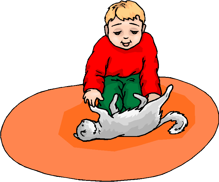 Boy Play with Cat Free Clipart | Free Microsoft Clipart