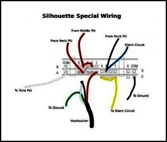 Silhouette%2BSpecial%2BWiring%2BDiagram guitar line silhouette special wiring diagram Basic Electrical Wiring Diagrams at bayanpartner.co