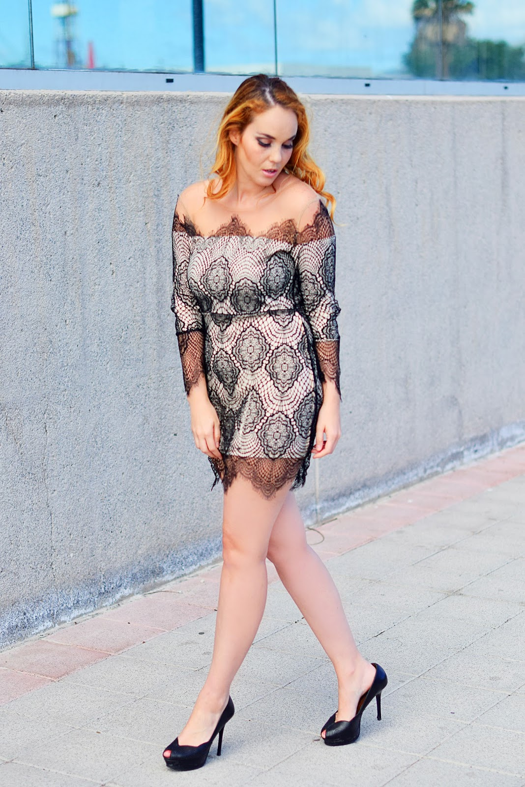 nery hdez, lace dress, yoyomelody , nude dress, dresses for events