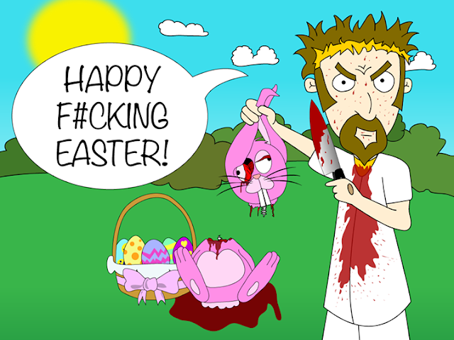 Happy F#cking Easter Cartoon