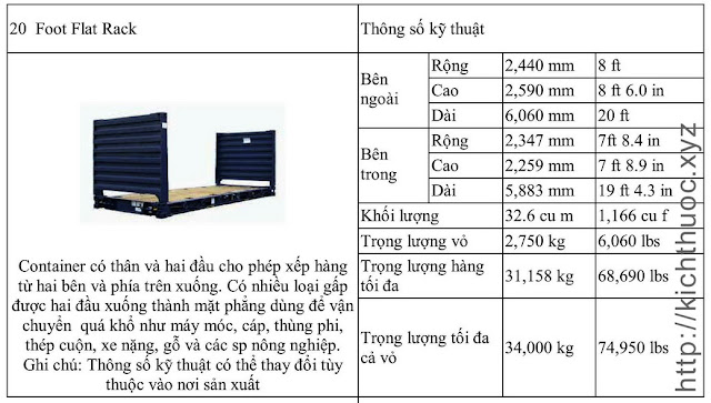 kich thuoc container flat rack 20 foot