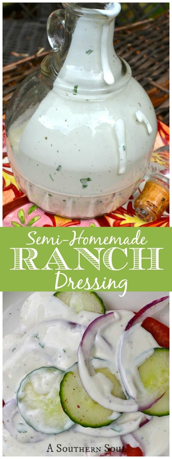 Easy semi homemade ranch dressing for Easy ranch