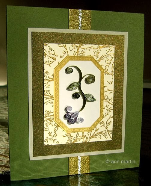 Quilled Flower Card Tutorial by Ann Martin