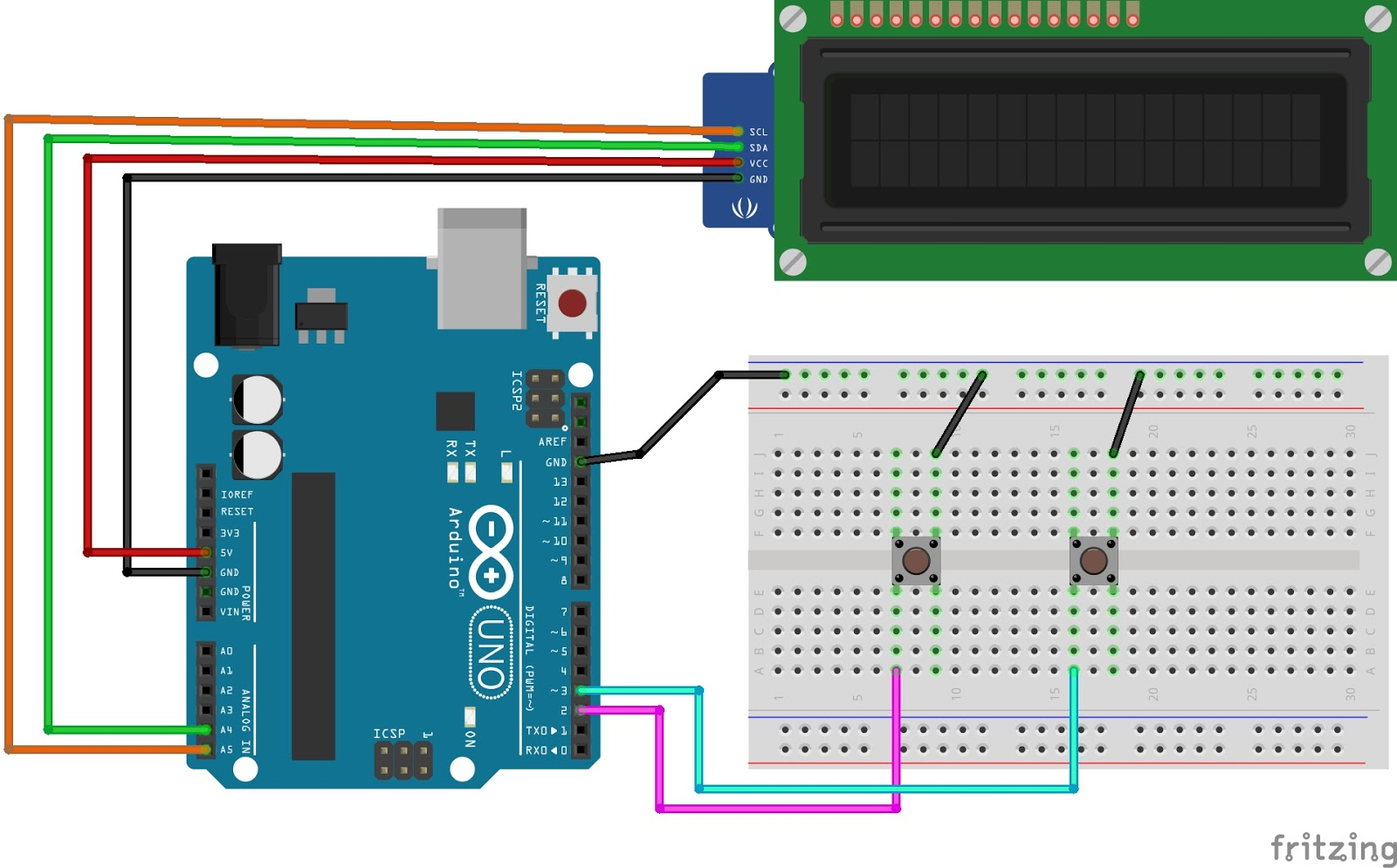Arduino Counter with LCD display and Push button Tutorial