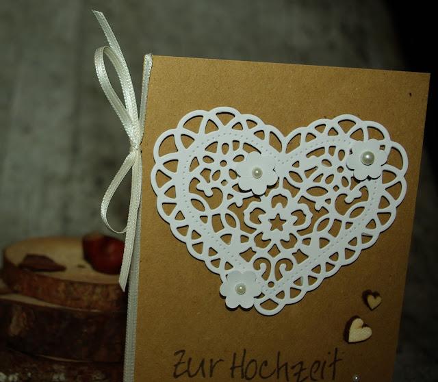 [DIY] Vintage Wedding Heart // Vintage Hochzeitskarte