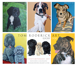 Lucky Dog Pawtraits by Boulder portrait artist Tom Roderick