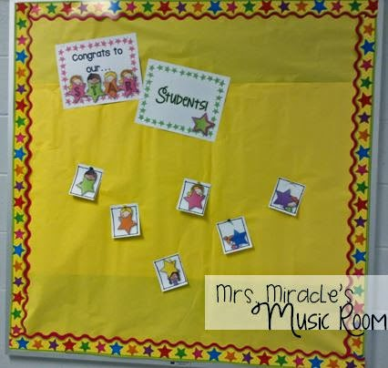 Star student bulletin board: Cute way to keep track of who has been star student!
