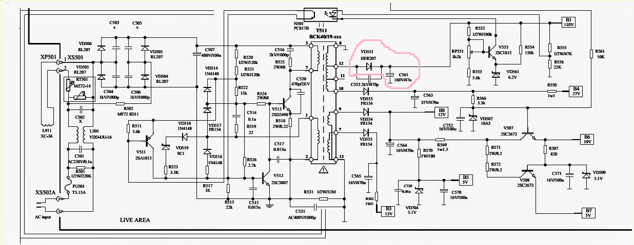 tv repair solution group  no b  voltage crt tv repair