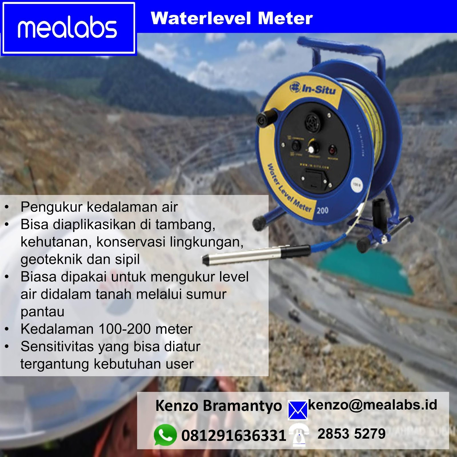 Jual Water Level Meter