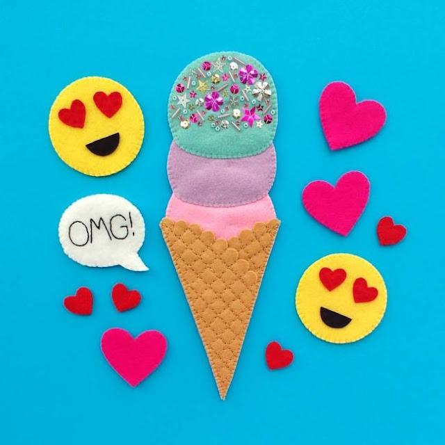 http://bugsandfishes.blogspot.co.uk/2017/08/august-felt-ice-cream-emoji-wreath-tutorial.html