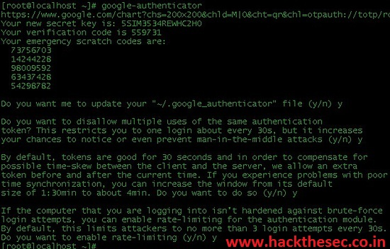 Secure SSH with Google Authenticator Two-Factor