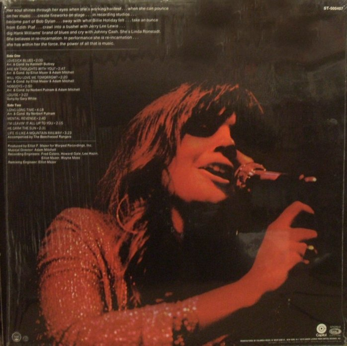 Vinyl Exam Silk Purse Linda Ronstadt