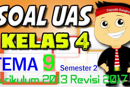 SOAL UAS / PAS KELAS 4 Semester 2 TEMA 9 K13 Revisi 2017