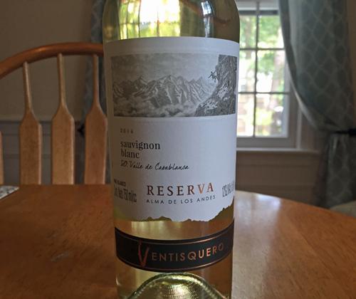 Wine Review: Ventisquero Reserva Sauvignon Blanc 2016