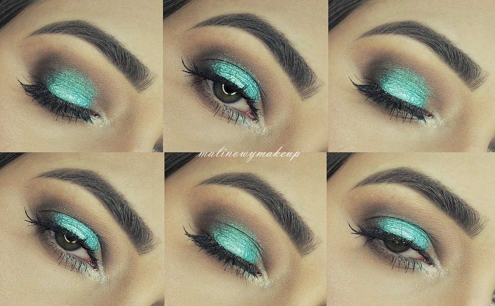 teal makeup mermaid makeup turkusowy makijaż makijaż sylwestrowy