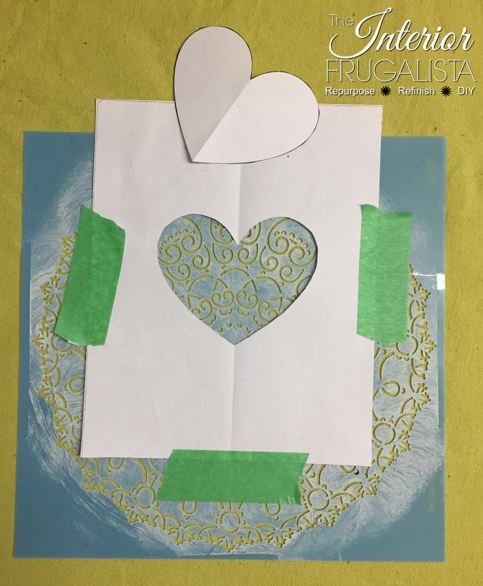 DIY Valentine Art Doily Heart Stencil
