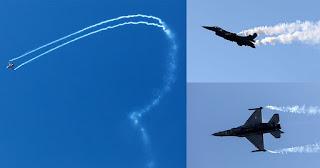 Θεσσαλονίκη: Το F16 της ομάδας «Ζευς» άφησε άφωνο τον κόσμο με τους εντυπωσιακούς ελιγμούς του