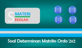 Contoh Soal Determinan Matriks Ordo 2x2