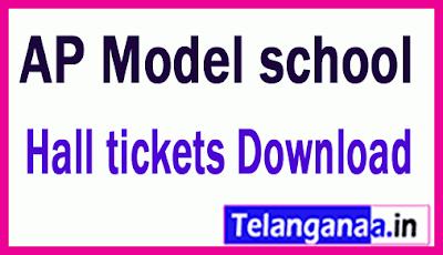 AP Model school Hall tickets Download