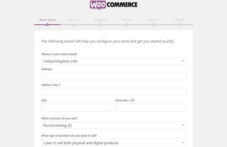 pengaturan toko woocommerce
