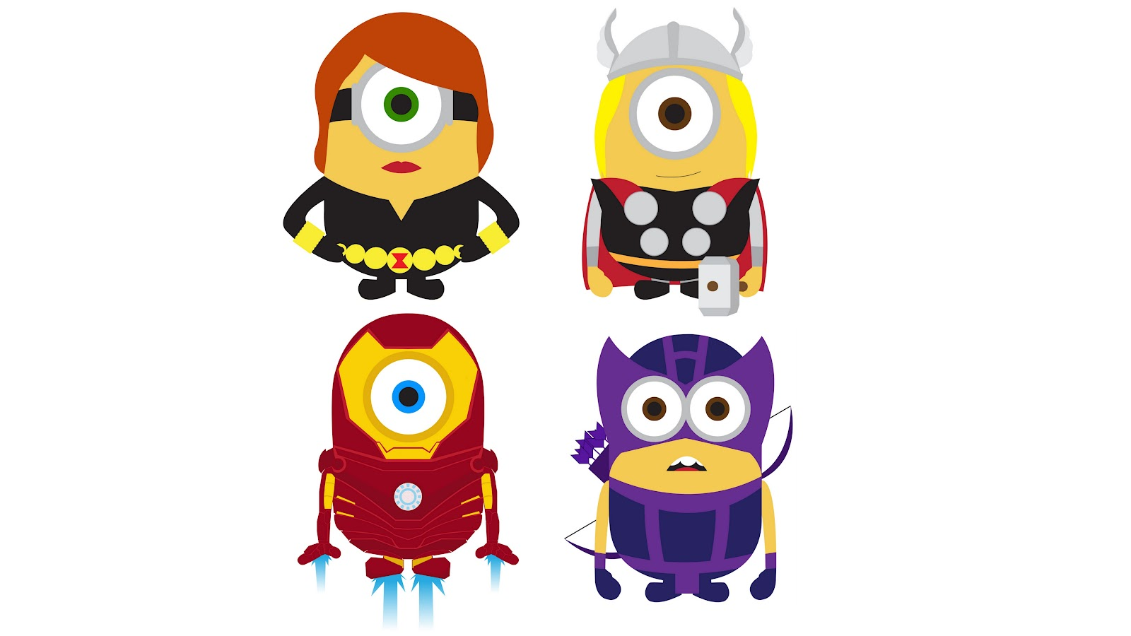 """girlfriends of habit: """"Despicable Me"""" Minions as """"Avengers"""""""