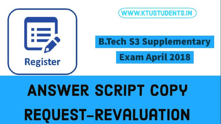 Application for Revaluation and Copy of Answer - B Tech S3