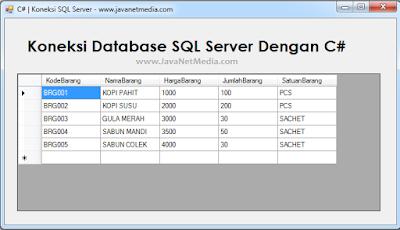 Cara Koneksi Database SQL Server Dengan C# - Belajar C SHARP