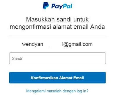 Verifikasi Masuk Akun Paypal