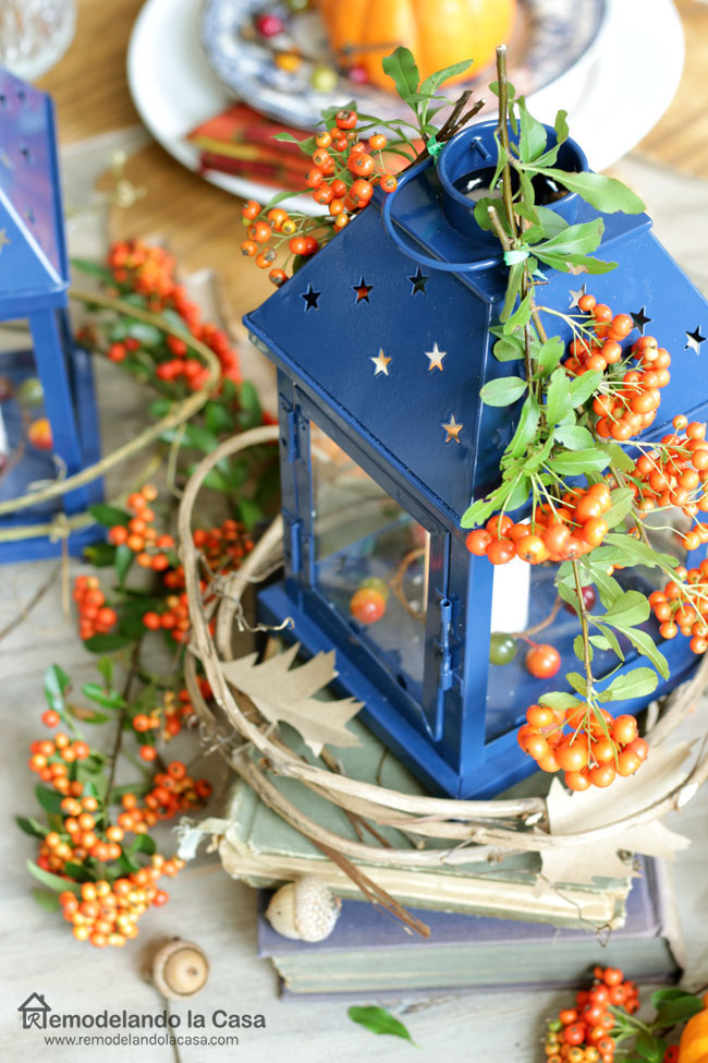 Diy Wooden Leaf Placemats And A Blue And Orange Tablescape Remodelando La Casa