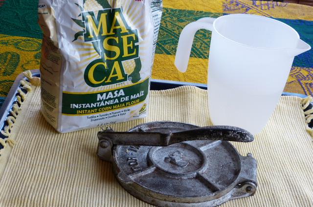 Ingredientes tortillas de maíz