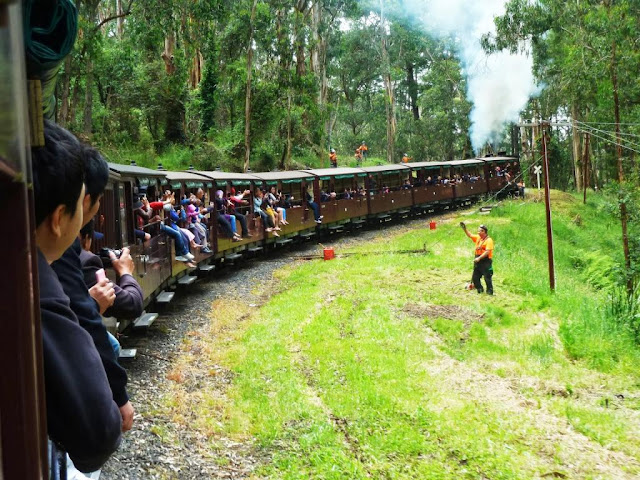 Let the Billy Steam Train take you through mountains and trees in Melbourne