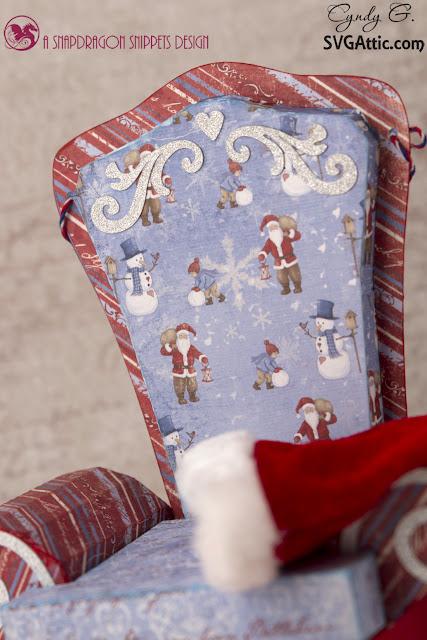 Close up of Santa's Chair