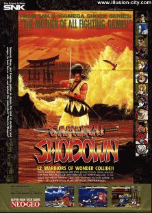 Samurai Shodown+arcade+game+fighter+portable+art+flyer